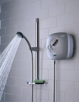 Hydropower White Thermostatic Power Shower - HY POWSHX W
