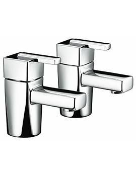 Qube Chrome Basin Taps - QU 1/2 C