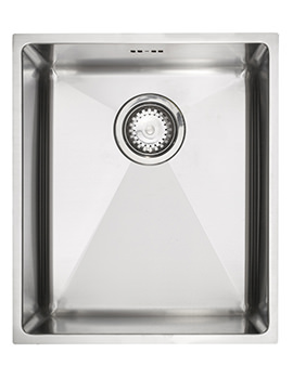 Onyx 4034 Medium Bowl Brushed Stainless Steel Flush Inset Sink