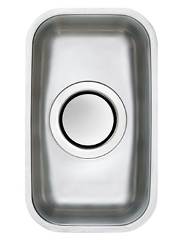 Edge H1 0.5 Bowl Polished Stainless Steel Undermount Sink