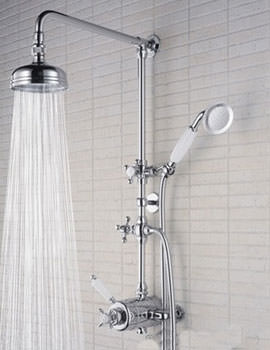 1901 Thermostatic Shower Valve With Rigid Riser And Diverter