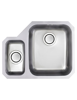 Edge D1 1.5 Bowl Polished Stainless Steel Undermount Sink