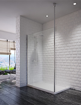 Beo Supreme 700mm Walk-in Enclosure With 1 Floor To Ceiling Post