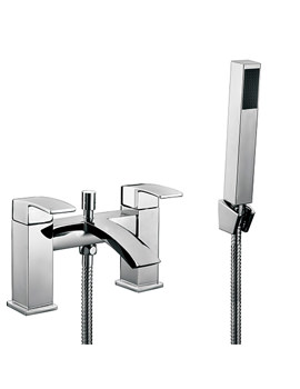 Beo Vento Bath Shower Mixer Tap With Shower Kit And Wall Bracket