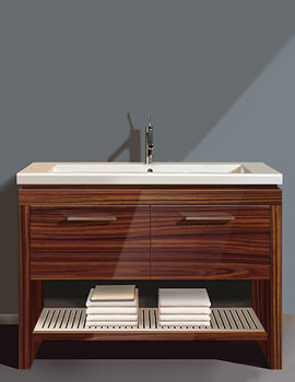 Duravit 2nd Floor Rosewood 1180mm Floor Standing Vanity Unit With Basin
