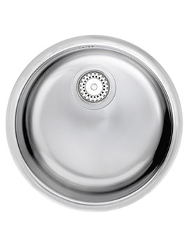 Onyx 1.0 Round Bowl Polished Stainless Steel Inset Sink