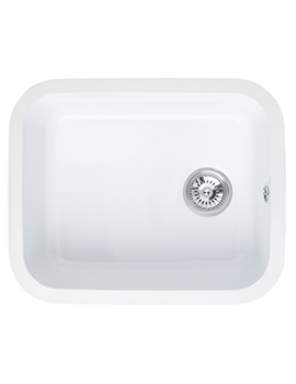 Related Astracast Lincoln 5040 Main Bowl Ceramic Gloss White Undermount Sink