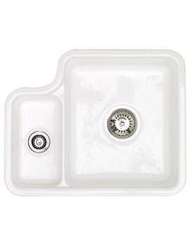 Lincoln 1.5 Bowl 544 x 440mm Ceramic Undermount Kitchen Sink