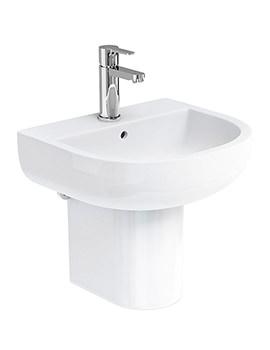 Britton Compact 450mm Basin With Semi Pedestal