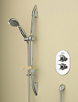 Artisan Thermostatic Recessed Shower With Adjustable Riser