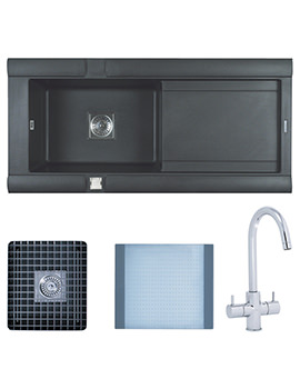 Related Astracast Geo 1.0 Bowl Composite ROK Metallic Inset Sink And Tap Pack