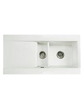 RAK Gourmet Dream 1 - 1.5 Bowl Fireclay Inset Kitchen Sink