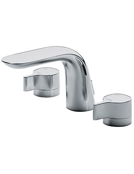 Melange Dual Control 3 Hole Basin Mixer Tap With Waste