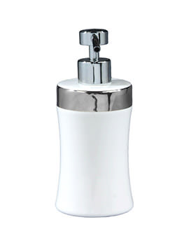 Opulence Her Porcelain Soap Dispenser Alpine White - HRSDWH