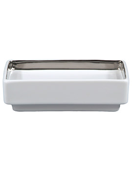 Opulence His Porcelain Soap Dish Alpine White - HSDSWH