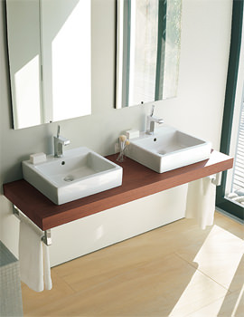 Related Duravit Delos Console With 2 Cut-Out For Undercounter Basin