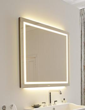Related Duravit Esplanade Oak 700 x 900mm Mirror With Lighting