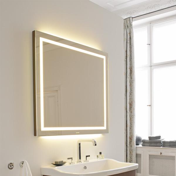 Duravit esplanade oak 1000x900mm mirror with lighting - Duravit esplanade ...