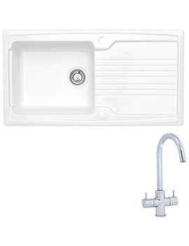 Related Astracast Equinox 1.0 Bowl Ceramic White Inset Sink And Tap Pack