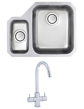 Related Astracast Edge D1 1.5 Bowl Polished Stainless Steel Undermount Sink And Tap