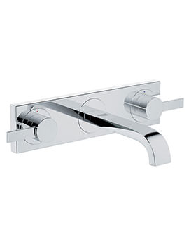 Allure 3 Hole Basin Mixer Tap Chrome - 20189000
