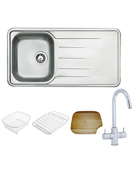 Related Astracast Topaz 1.0 Bowl Polished Stainless Steel Inset Sink And Tap Pack