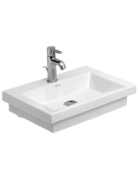 Related Duravit 2nd Floor 1 Tap Hole 500mm Handrinse Basin - 0790500000