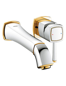 Grohe Spa Grandera Chrome-Gold 2 Hole Basin Mixer Tap 234mm