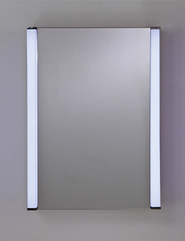 Messina Single Door LED Illuminated Mirrored Cabinet 500 x 700mm