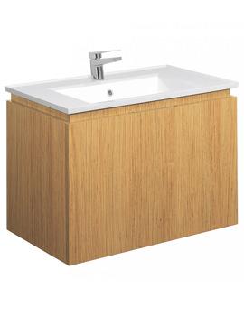 Linea Spanish Oak 750mm Single Drawer Basin Unit