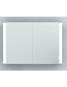 Rimini Double Door LED Illuminated Mirrored Cabinet 700 x 500mm