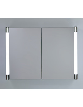 Verona Double Door LED Illuminated Mirrored Cabinet 700 x 500mm