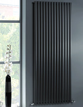 MHS Ellis Anthracite Tubular Designer Radiator 400x1800mm
