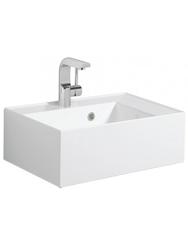 Elite White Gloss Cast Mineral Marble Basin 500mm