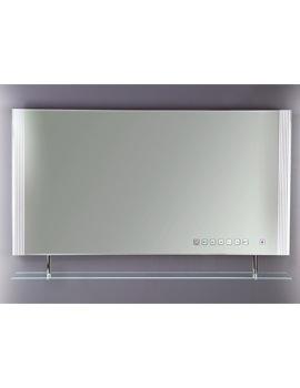 RAK Reflections 85 White Framed LED Touch Sensor Mirror With Shelf