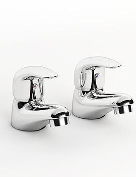 Atlas Pair Of Bath Taps Chrome