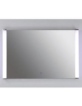 RAK Luminere White Framed LED Touch Sensor Mirror 775 x 500mm
