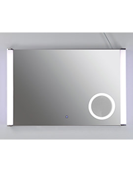 Luminere Plus Silver Framed LED Touch Sensor Mirror 775 x 500mm
