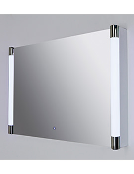 Lucido Silver Framed LED Touch Sensor Mirror 775 x 500mm