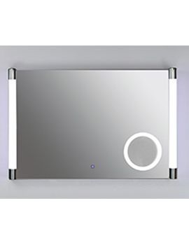 Lucido Plus Silver Framed LED Touch Sensor Mirror 775 x 500mm