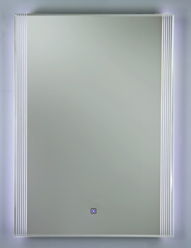 Reflections 5 Or 6 White Framed LED Touch Sensor Mirror