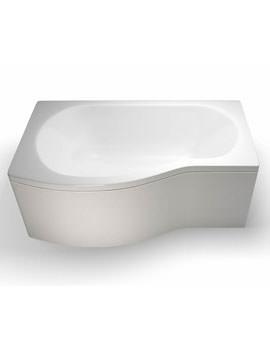 Britton Cleargreen EcoRound 1500 x 900mm Left Hand Shower Bath