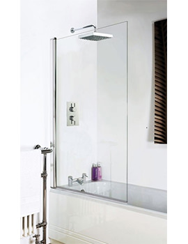 RAK Premium 6 Square Straight Bath Screen 1400 x 800mm