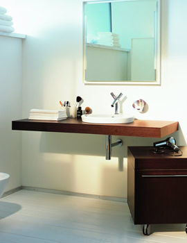 Related Duravit 2nd Floor White 500mm One Cut-Out Console For Vanity Basins