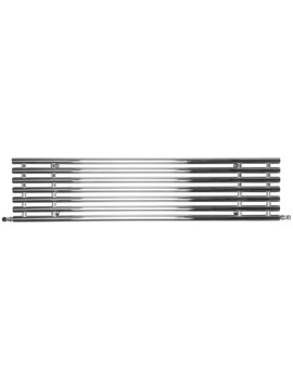 SBH Horizontal Tubes Polished Stainless Steel Electric Radiator 1600 x 380mm