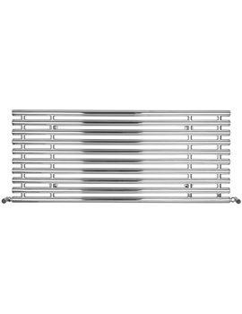 SBH Horizontal Tubes Polished Stainless Steel Radiator 1300 x 560mm