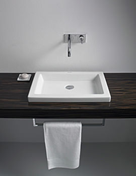 Related Duravit 2nd Floor Ebony 1000mm 2 Cut-Out Console For Vanity Basin