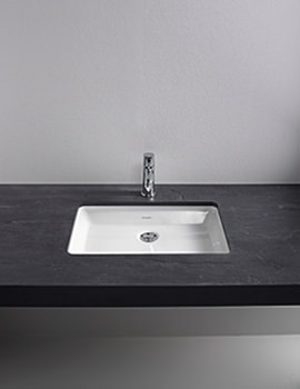 Related Duravit 2nd Floor Rosewood 1300mm 2 Cut-Out Console For undercounter Basin