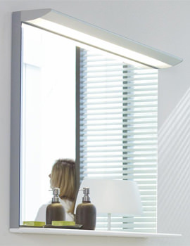 Image of Duravit Darling New 1500 x 800mm Mirror With Lightning And Wooden Shelf
