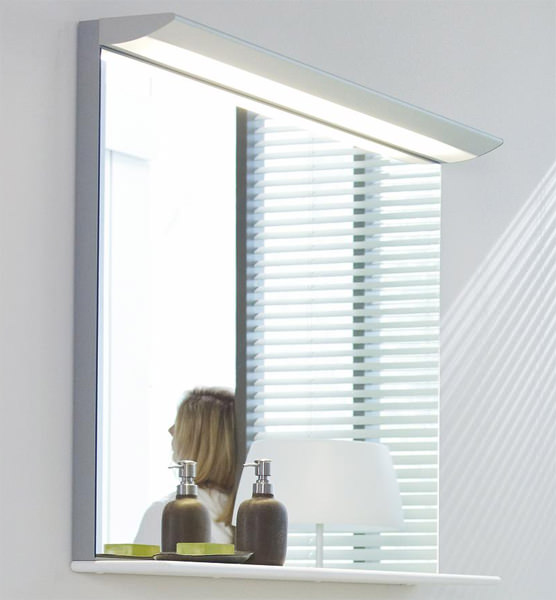 Large Image of Duravit Darling New 1500 x 800mm Mirror With Lightning And Wooden Shelf